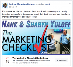 Facebook Tip for Speakers #2 ~ Make It An Event!
