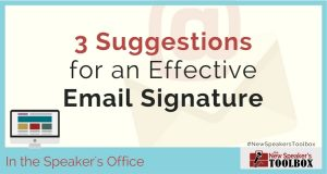3 Suggestions for an Effective Email Signature