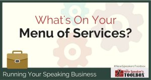 professional speaker menu of services