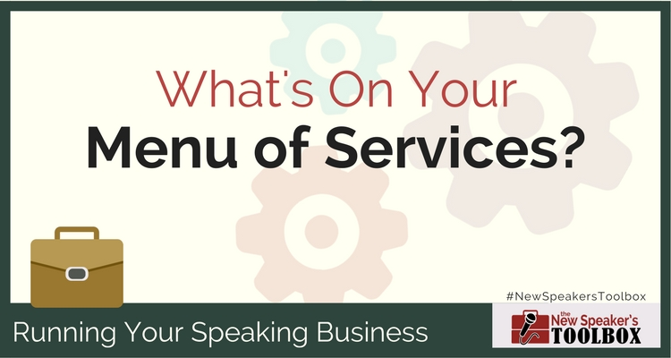 professional speaker menu of services