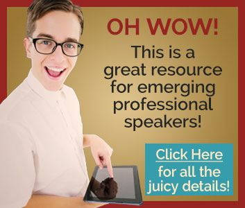 OH WOW! This is a great resource for emerging professional speakers!