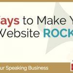 6 Ways to Make Your Speaker Website ROCK!