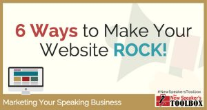 6 Ways to Make Your Speaker Website ROCK!